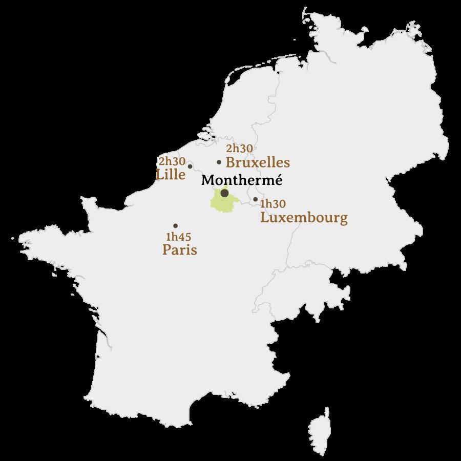 Carte - Maison pour Ingénieur - Monthermé (Ardennes)
